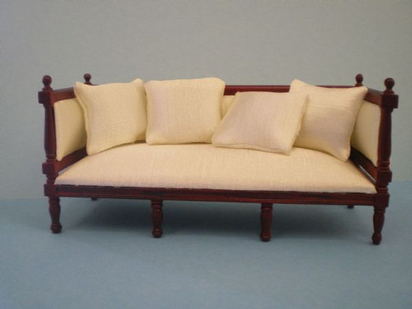 Cream Louis XV1 Sofa for the Dolls House. DHE 7216